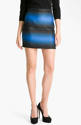 NWT Marc by Marc Jacobs Lida Striped Skirt Blue Aster $298 – Size 8