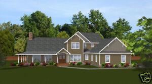Custom Home House Plan 3,115 SF 2-story Blueprints | eBay