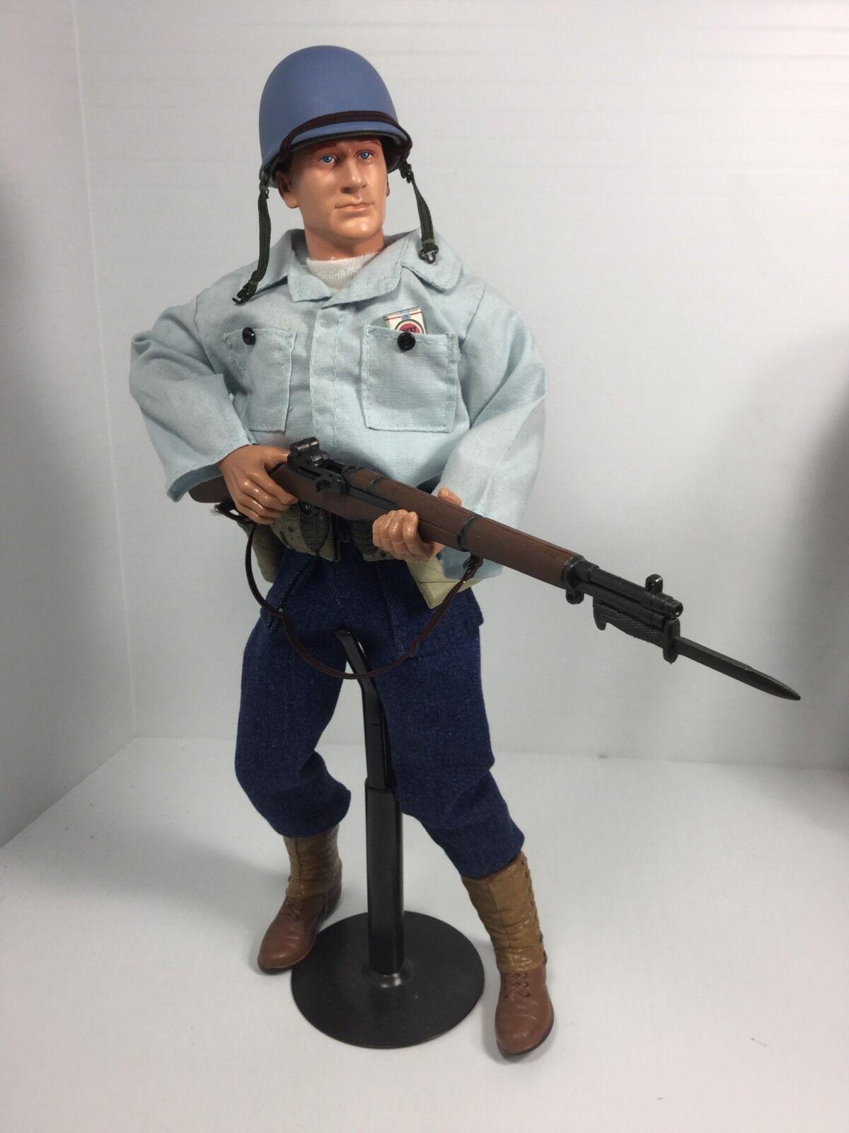 1 6 21ST CENTURY US NAVY LANDING PARTY SAILOR GARAND + STAND DRAGON BBI DID WW2