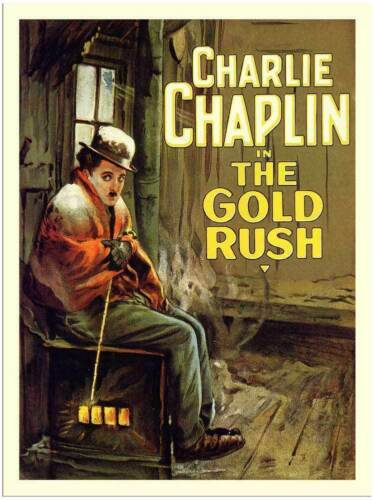 la ruée vers l/'or Film Métal Tin Signe Affiche Plaque Murale Charlie Chaplin