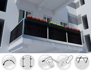 Polyrattan Balkonverkleidung Sichtschutz Balkonsichtschutz Meterware
