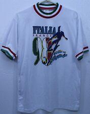 Original 1998 World Cup Soccer Futbol t-shirt Italia Italy 98- Men's Shirt EUC
