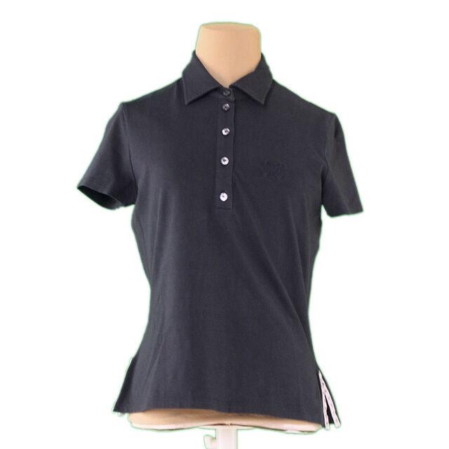 Celine Polo shirt schwarz Woman Authentic Used E1056