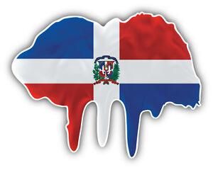 Dominican Republic Flag Bumper Sticker NEW