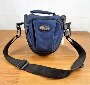 Details about Blue Lowepro TLZ Mini Padded Topload Camera Bag Pouch with Shoulder Strap
