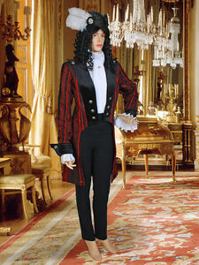Women-039-s-Renaissance-Victorian-Style-Frock-Coat-Jacket-Handmade