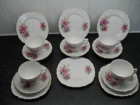CROWN ROYAL TEA SET ENGLISH BONE CHINA WEDDING BRIDAL TEA PARTY VINTAGE RETRO