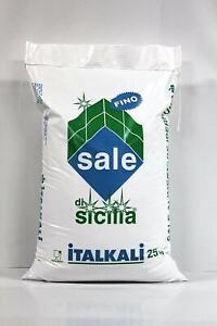 ITALKALI SACCO DI SALE ALIMENTARE FINO DA KG 25 PER PIZZERIA, PANIFICAZIONI,S...