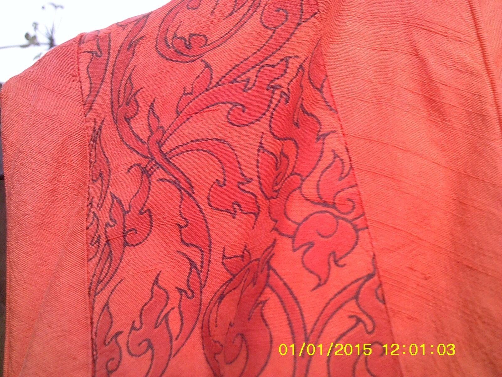 Pure Silk Judy Hasse orange Wintetrouser suit in size6