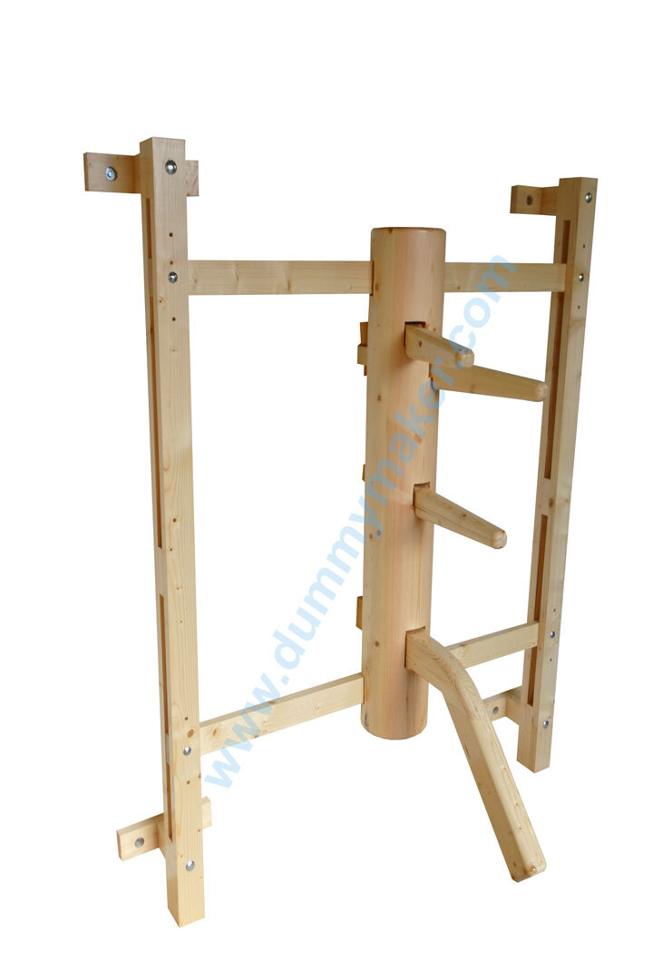 Wing Chun dummy with leg and big gripping arch natural Color