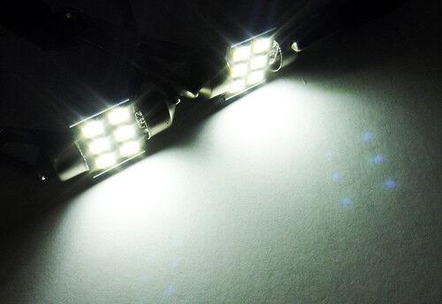 2x Samsung 6 SMD LED DE3022 DE3175 for NISSAN Interior Dome Light Festoon Bulbs