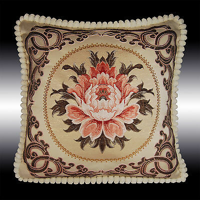 """RARE DAMASK TAPESTRY SOFT VELVET THROW PILLOW CASE CUSHION COVER CHAIR PAD 19"""""""