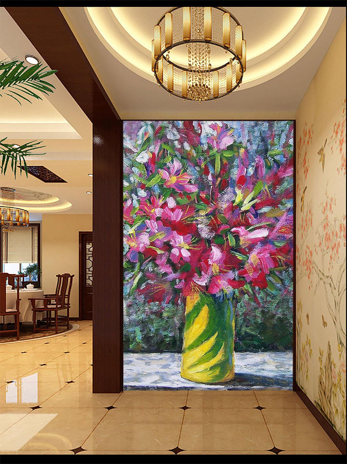 Papel Vellón Pintado Mural De Vellón Papel Flores De Pintura Gouache 2 Paisaje Fondo Pantalla c84768