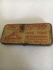 Vintage His Masters Voice Gramaphone Needle Tin