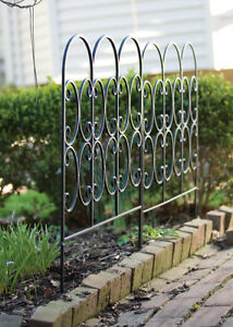 Image Is Loading 2 X Metal Triple Arched Garden Edging Fence