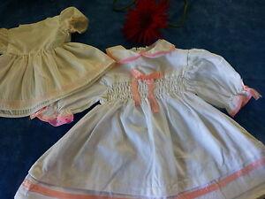 poupee-bella-raynal-gege-vintage-lot-2robes-35et-22cm-neuves