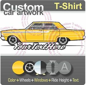 Details about Custom T-shirt 1962 62 Fairlane 500 4 door Sedan Club not  affiliated with Ford