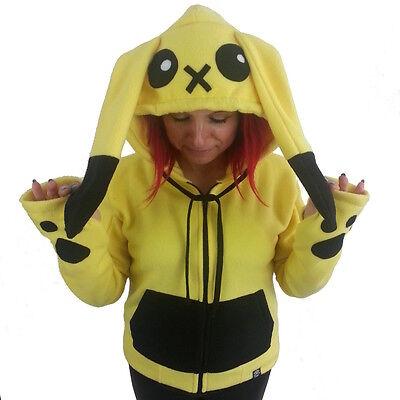 Cupcake Cult Striker Pikachu Cosplay Hoodie, Anime Emo Goth Alternative Pika ^_^