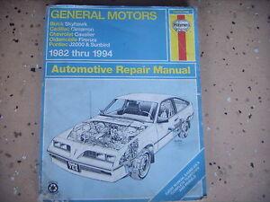 gm haynes repair manual buick skyhawk cadillac cimarron chevy rh ebay com 1997 Chevy Cavalier Owner's Manual 94 chevy cavalier repair manual pdf