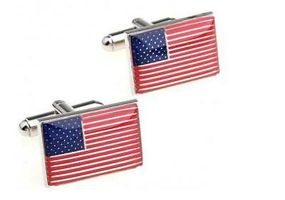 American Flag USA Designer Cufflinks by Frederick Thomas FT1251 World Cup