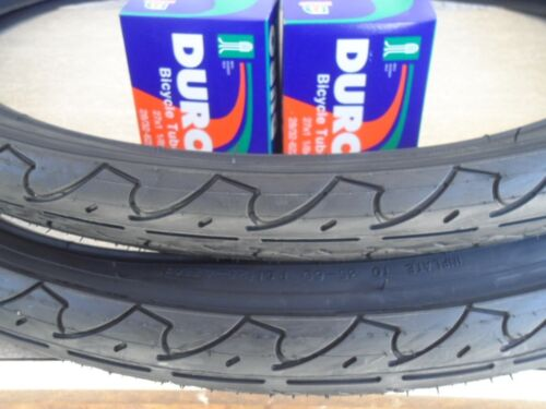 """26 x 1.95 Bicycle Tires+Tubes Road City Bike 26/"""" NEW 26x1.95 DURO City Cavallier"""