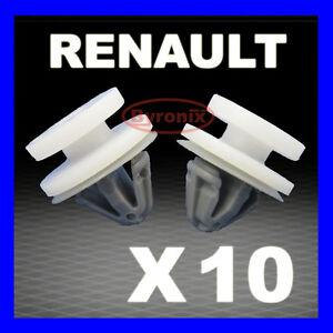 20x RENAULT TRAFIC DOOR CARD PANEL TRIM CLIPS INTERIOR MK2 TRAFFIC Grey
