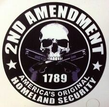 GUN STICKER DECAL 2nd AMENDMENT STICKER DECAL GUN PERMIT