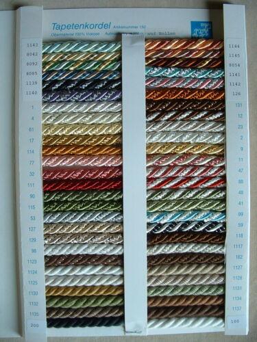 in vielen Farben verfügbar MADE in GERMANY 25 m Tapetenkordel//Zierkordel