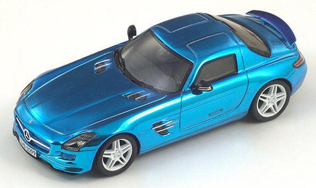 2009 mercedes - benz sls amg den chrome blaue gullwing 1 43  neue warme farbe