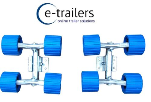 Boat /& Jet Ski Trailers 8 Wobble Roller System 250mm long for 40x60mm beam