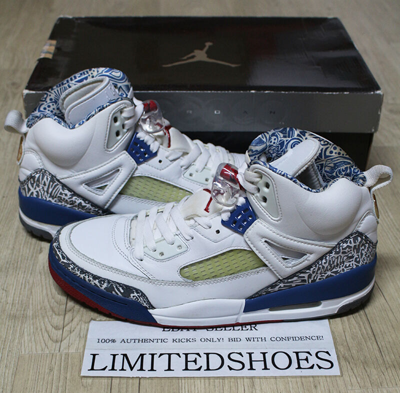 NIKE JORDAN SPIZIKE TRUE blueE WHITE RED 315371-163 US 9 tgold bravo knicks iii og