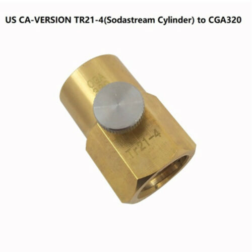 Sodastream CO2 Cylinder Metal Valve Connector Adapter TR21-4 to CGA320 W21.8