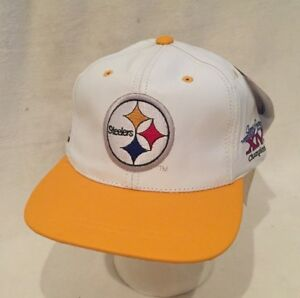 Vintage NFL 4 Time Super Bowl Champions PITTSBURGH STEELERS Leather ... c9c77f2ea