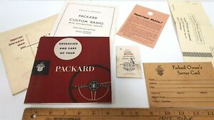 1953-PACKARD-Owners-Manual-Kit-Folder-Many-Items-NOS-Condition-US