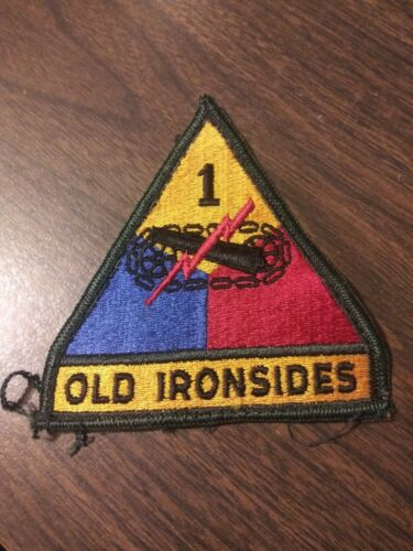 "US Army 1st Armored Division ""Old Ironsides"" w Tab Patch"