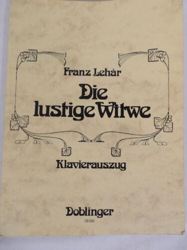 New  Die Lustige Witwe Klavierauszug Doblinger 09 050 Musical Score in German