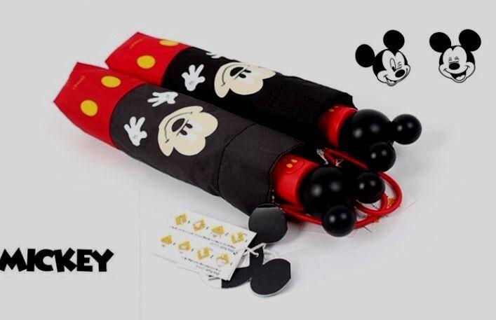 Disney Micky Mouse Automatic Umbrella Character Goods Korean Black Color 1EA