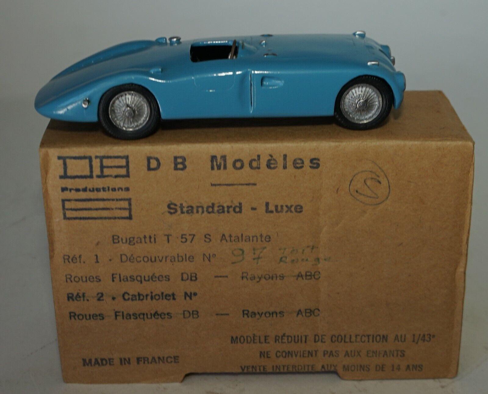 DB Modeles 97 Bugatti 57S Atalante  Hand  made  in 1 43 Scale  meilleur service