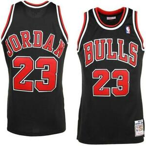 2019-NBA-MICHAEL-23-JORDAN-CHICAGO-BULLS-SWINGMAN-JERSEY-T-SHIRT-BLACK