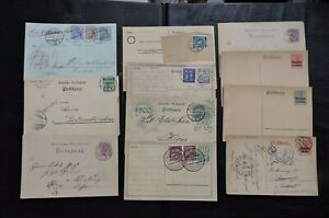 LOT-x11-GERMANY-POSTAL-STATIONERY-CARDS-1800s-1900s-MOST-USED-STAMP-COLLECTION