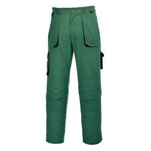 Pantalone-multitasche-Portwest-verde-giardiniere-TX11-tg-XXL-da-lavoro