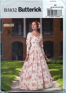 NEW-Reproduction-Historical-Dress-Boned-Corset-Advanced-size-6-14-Butterick-5832