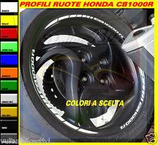 adesivi ruote moto honda cb1000R strisce cerchi decals stickers weels bianco