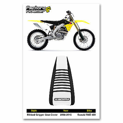 Black Motocross Gripper Seat Cover Suzuki RMZ 450 2008-2017