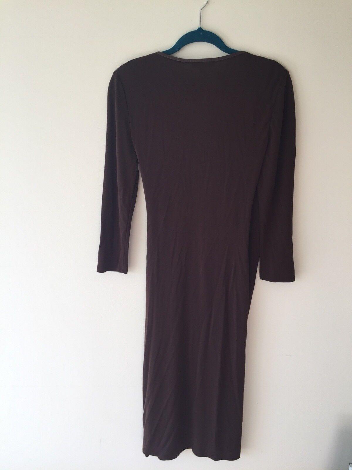Ralph Lauren Brown Dress, Size 10-12, M Fab Fab Fab  e9ba38