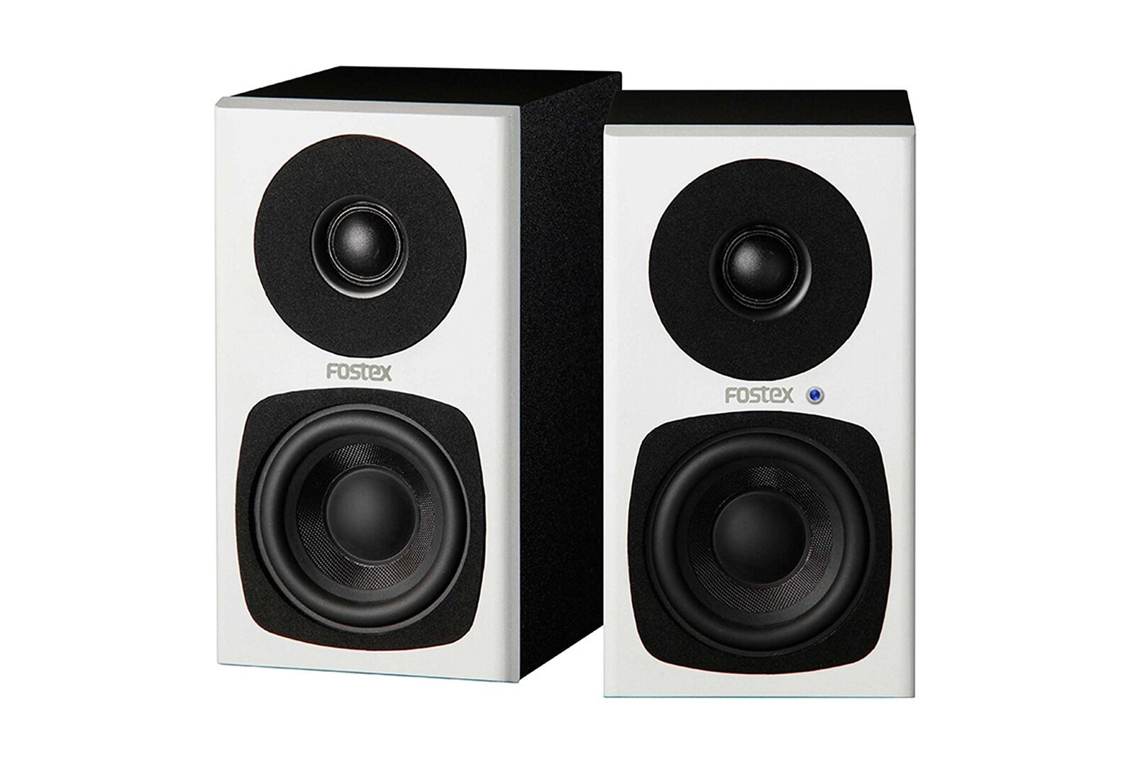 Fostex USA PM03H-W 2-Way Active Speaker System Studio Monitors, Pair, White