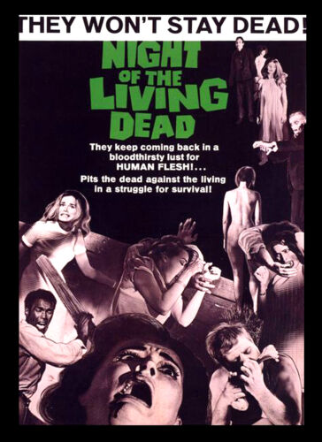 A3 Night of the Living Dead horror Movie wall Home Posters Retro Art #10