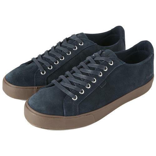 Kickers Tovni Lacer para Hombre de Cuero Gamuza Marrón Azul Zapatillas Zapatos Talla