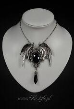RESTYLE DELLA MORTE BLACK BAT SCARY HALLOWEEN GOTHIC EMO HORROR CHARM NECKLACE