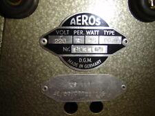 Ventilator Fan Aeros Antik alt old antique Electric Art Deco Bauhaus OG30